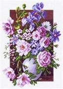 Рисунок на канве  Букет цветов