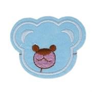 Декоративная термоаппликация   Медвежонок голубой