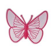 Декоративная термоаппликация   Бабочка розовая