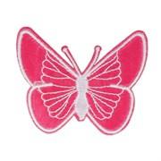Декоративная термоаппликация   Бабочка темно-розовая