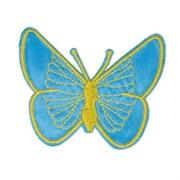 Декоративная термоаппликация   Бабочка голубая