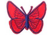 Декоративная термоаппликация   Бабочка красная