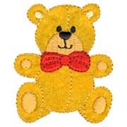 Декоративная термоаппликация   Медвежонок желтый