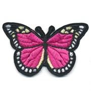 Декоративная термоаппликация   Бабочка черно-малиновая