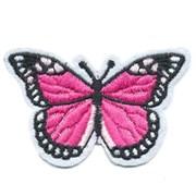 Декоративная термоаппликация   Бабочка бело-малиновая