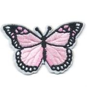 Декоративная термоаппликация   Бабочка светло-розовая