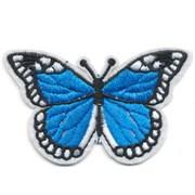 Декоративная термоаппликация   Бабочка синяя