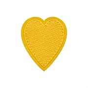 Декоративная термоаппликация   Желтое сердечко
