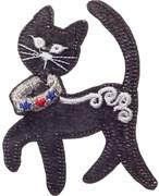 Термоаппликация  Кошка в ошейнике , 9,5 * 7,5 см
