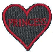 Термоаппликация  Princess-сердце