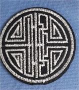 Термоаппликация  Ацтекский узор в круге ,  5,7 * 5,7 см