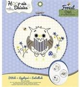 Сова. Набор для вышивания и детского творчества Hoop-sie Daisies Owl
