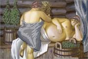 Набор для вышивания бисером  В бане