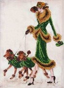 Набор для вышивания бисером  Прогулка в зеленом