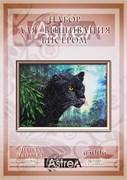 Набор для вышивания бисером  Черная пантера