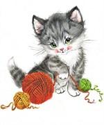 Набор для вышивания  Игривый котенок