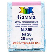 Иглы для шитья ручные  Gamma  гобеленовые  №28