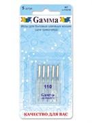 Иглы для бытовых швейных машин  Gamma  №110 для трикотажа 5 шт.