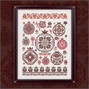 Схема печатная для вышивания  Гранатовый квакер