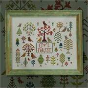 Схема печатная для вышивания  Совиный лес