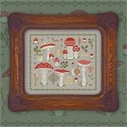 Схема печатная для вышивания  Мухоморчики