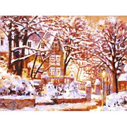 Набор для рисования по номерам  Зимний вечер на бульваре