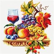 Картина стразами  Натюрморт с виноградом