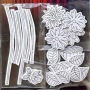 Наклейки 3D для раскрашивания Цветы