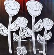 Наклейки 3D для раскрашивания Тюльпаны