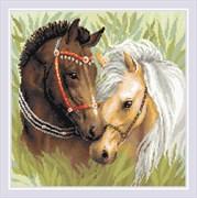 Набор алмазной мозаики  Пара лошадей
