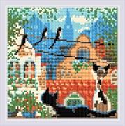 Набор алмазной мозаики  Город и кошки. Лето
