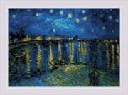Набор для вышивания  Звездная ночь  по мотивам картины В. Ван Гога