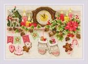 Набор для вышивания  Рождественская полка