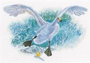 Набор для вышивания Белый гусь на белом снегу