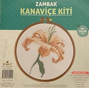 Набор для вышивания Zambak с пяльцами лилия