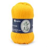 Пряжа Astra Premium Детская 90гр. 270м 35% шерсть меринос, 65% желтый