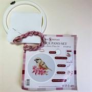 Набор для вышивания с пяльцами Птица с веточкой сакуры, 16,80 см
