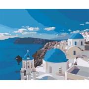 Набор для рисования по номерам 'Вид на Санторини' 40*50см