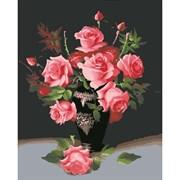Набор для рисования по номерам 'Ваза с розами' 40*50см