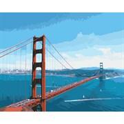 Набор для рисования по номерам 'Мост Золотые ворота' 40*50см