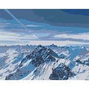 Набор для рисования по номерам 'Снежные горы' 40*50см