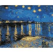 Набор для рисования по номерам 'Звездная ночь над Роной' 40*50см