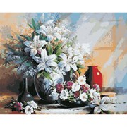 Набор для рисования по номерам 'Лилии в вазе' 40*50см