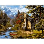 Набор для рисования по номерам 'Домик лесничего' 40*50см