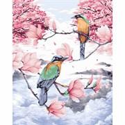 Набор для рисования по номерам 'Райские птицы' 40*50см