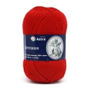 Пряжа Astra Premium Детская 35% шерсть меринос, 65% акрил красный