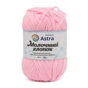 Пряжа Astra Premium Молочный хлопок 50% хлопок, 50% молочный акрил нежно-розовый